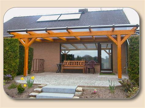 Überdachung Holz Und Glas Bausatz Preise  Hersteller Holzon