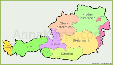 oesterreich landkarte bundeslaender  blog