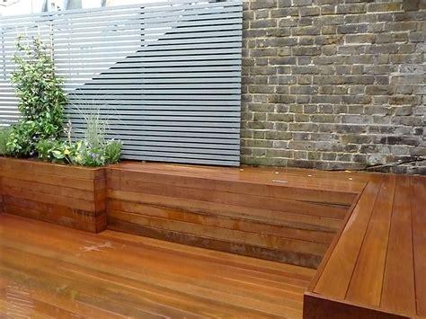 architectural hardwood modern garden design wandsworth
