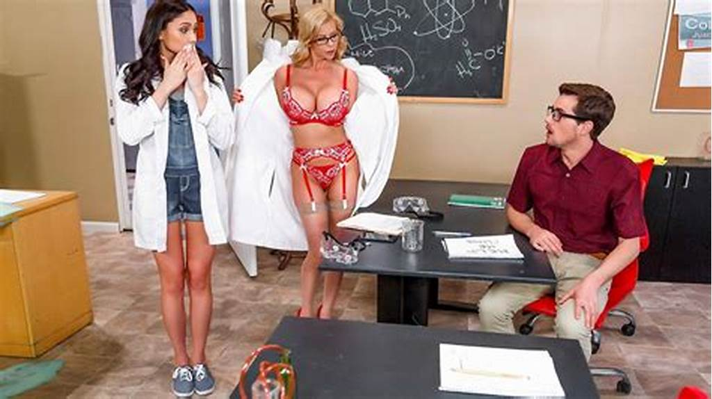 #Nerdy #Chick #Gets #Punished #Has #A #Threesome #In #The #School
