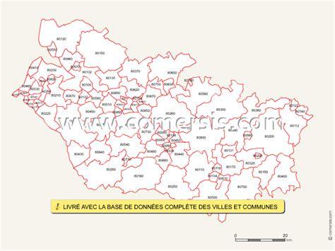 Carte Code Postal by Carte Des Codes Postaux De La Somme