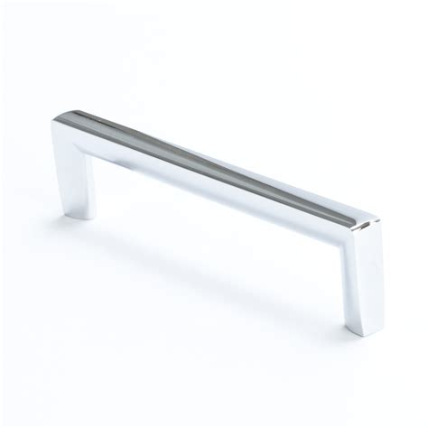 berenson brushed nickel drawer pull polished chrome 128mm 4114 1026 p berenson