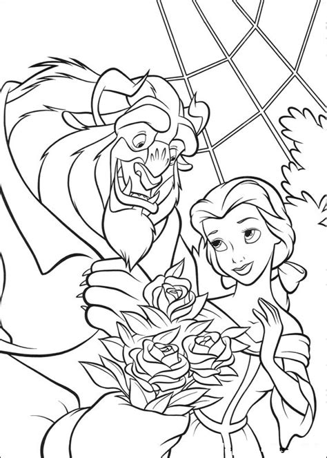 Coloring Pictures by Free Printable And The Beast Coloring Pages For