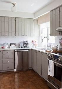 Gray kitchen cabinets contemporary kitchen samantha pynn for What kind of paint to use on kitchen cabinets for hgtv wall art