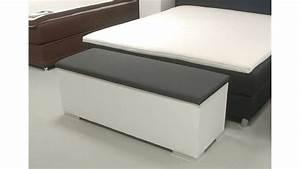 Sitzbank truhe chest schlafzimmer in wei und anthrazit for Truhe schlafzimmer