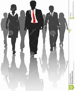 Business Silhouette People Walk Human Resources Stock ...