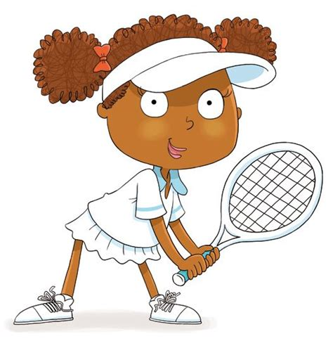 young tennis player character cartoon illustration tennis sports tennis player