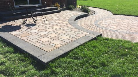 installing patio pavers brick paver patio installation livonia southeast michigan