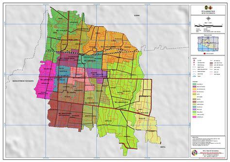 administrasi kota yogyakarta peta tematik indonesia
