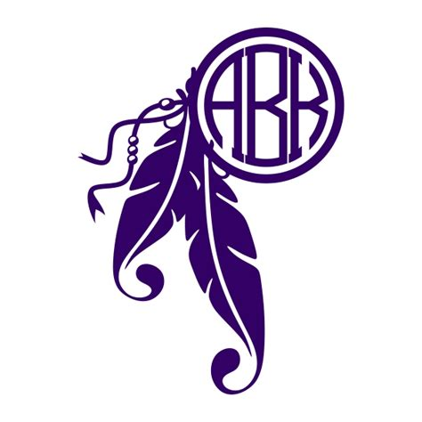 feather dreamcatcher svg monogram designs