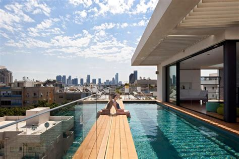 terrace infinity pool tops   classy contemporary home