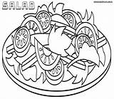 Salad Coloring Pages Colouring Plate Salads Printable Sheets Picolour Proyecto Lettuce Cloring sketch template