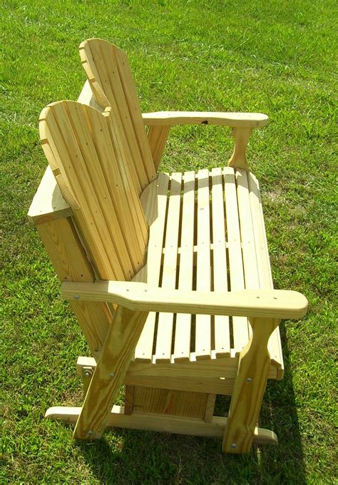 adirondack glider bench plans diy wood projects bench