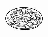 Salad Coloring Drawing Pages Bowl Coloringcrew sketch template