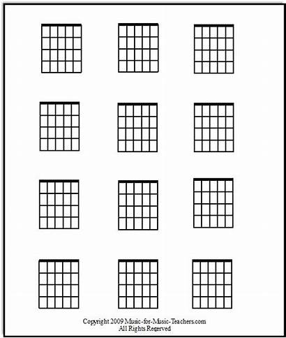 Guitar Chord Blank Chart Chords Fill Sheet