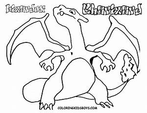 Free Printable Pokemon U0026quot Charizad U0026quot Coloring Pages