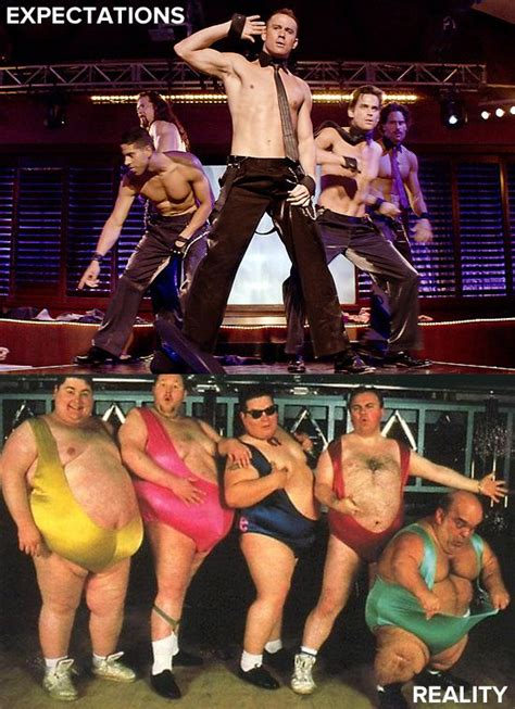 expectations  reality  male strip club