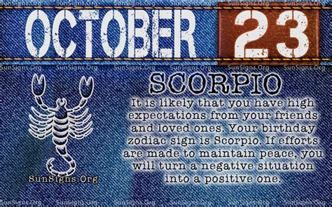 october zodiac birthday horoscope personality sunsignsorg