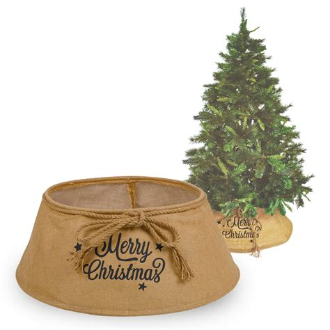 christmas tree skirt natural hessian sack merry christmas