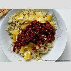 Quinoa Salat Mit Preiselbeeren Und Orangen  Kochen Mit Diana