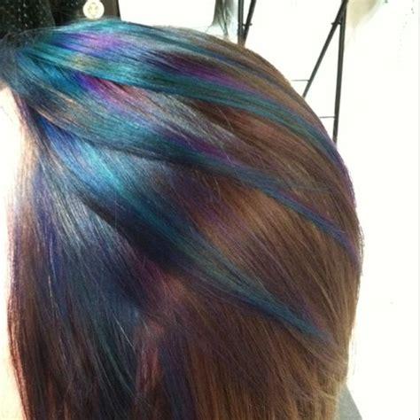 Peacock Inspired Hair Color Fun Hair Pinterest