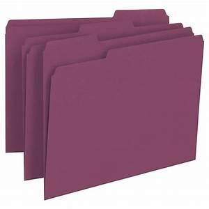Smead 13093 maroon letter size file folders 1 3 cut tabs for Smead letter size file folders