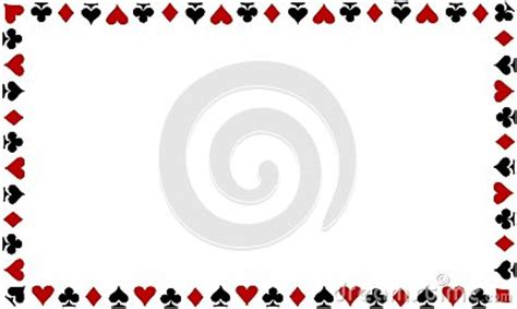 playing cards border  white background stock