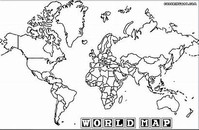 Coloring Map Colouring Countries Sheet Colorings