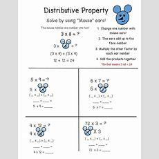 Best 25+ Distributive Property Of Multiplication Ideas On Pinterest  Distributive Property
