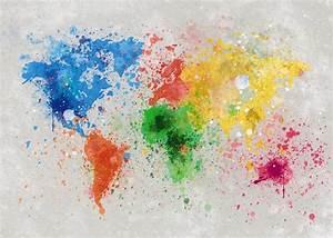 tableau grand format carte du monde splash the world With affiche chambre bébé avec pull fleur homme