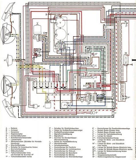 Vw Bu Diagram by 74 Vw Beetle Wiring Diagram