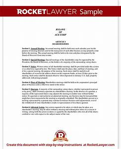 s corporation bylaws template - corporate bylaws template with sample