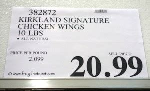 This is the best bang for your buck when it comes to costco you can't beat the price on these. Costco: Kirkland Signature Chicken Wings   Frugal Hotspot