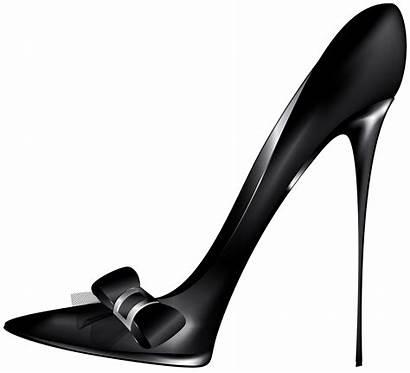 Heels Clip Clipart Bow Heel Shoes Pumps