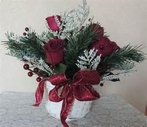 red roses silk winter berry flower arrangement basket christmas centerpiece ebay