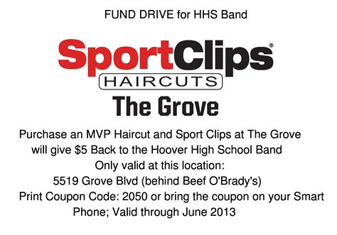Band Fund Raiser With Sports Clips At The Grove Shopping