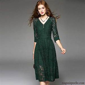 robes d hiver manches longues femme col en v robe dentelle With robe d hiver manche longue