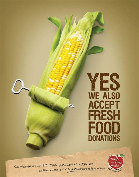 cuisine ad creative food advertising foodbank posters 22x28 c jpg