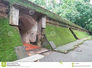 Ancient Tunnel In Wat Umong Chiang Mai Thailand Stock Image