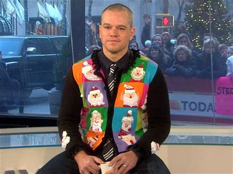 ron swanson ugly sweater if matt damon can do it you can do it sweaters sweater