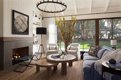 rustic family room furniture rustic chic farmhouse style dwelling in northern california