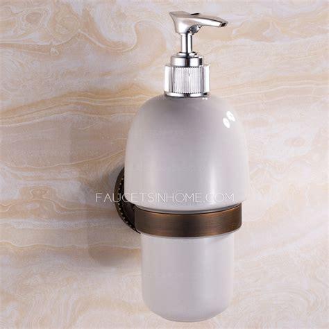 antique bronze wall mount soap dispensers bathroom