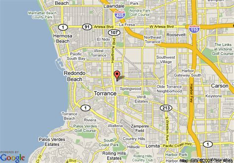 map of marriott torrance south bay torrance