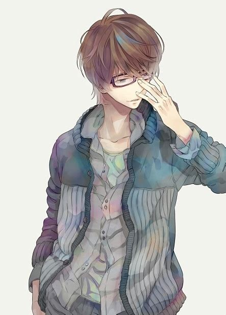 megane boy wearing jacket anime boys picture 184711