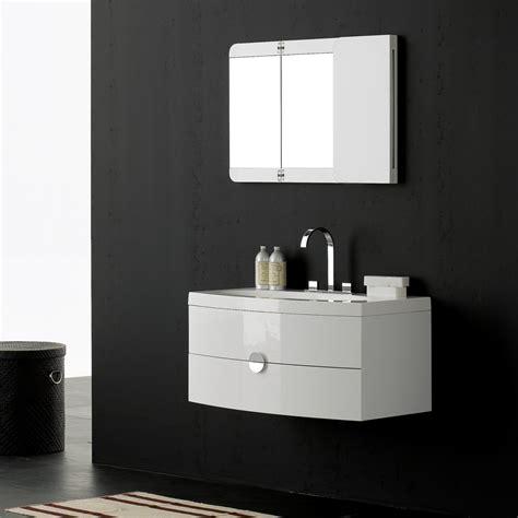 designer bathroom vanity gloss white wall mounted vanity unit