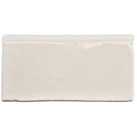 Bullnose Tile Trim Home Depot by Merola Tile Antic Craquelle White 3 In X 6 In Ceramic
