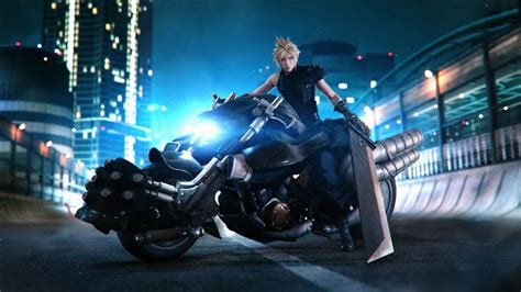cloud strife motorcycle final fantasy  remake