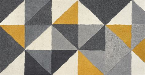 Grey Mustard Yellow Rug Large Wool Tufted Geometric 160 X 230cm Henrik Baby Blue Curtains For Nursery Western And Window Treatments Shower Curtain Weighted Bottom Living Room With Red 3 Sided Rod Linen Tab Top Gold Satin