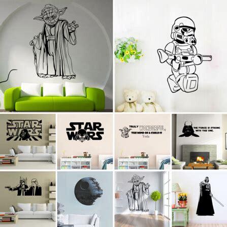 movie star wars wall stickers yoda death star wall decals
