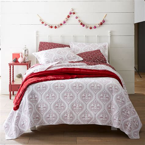 Coverlet Quilts by Embroidered Reindeer Quilt Plus Size Quilts
